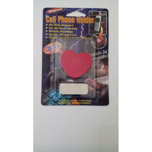 Magnetic Mobile Holder Heart Shape. 3M Adhesive. Made in Taiwan