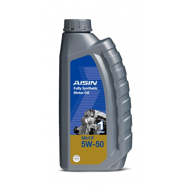 Aisin Fully Synthetic Motor Oil 10,000 KM For Japanese & Korean Cars After 200,000 KM 5W-50 SN (1 Litre)