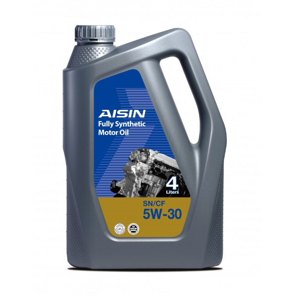 Aisin Fully Synthetic Motor Oil 10,000 KM For Japanese & Korean Cars Before 100,000 KM 5W-30 SN (4 Liters)
