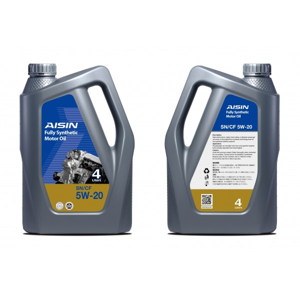 Aisin Fully Synthetic Motor Oil 10,000 KM 5W-20 SN (4 Liters)