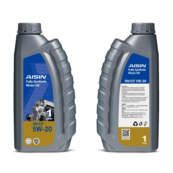 Aisin Fully Synthetic Motor Oil 10,000 KM 5W-20 SN (1 Litre)