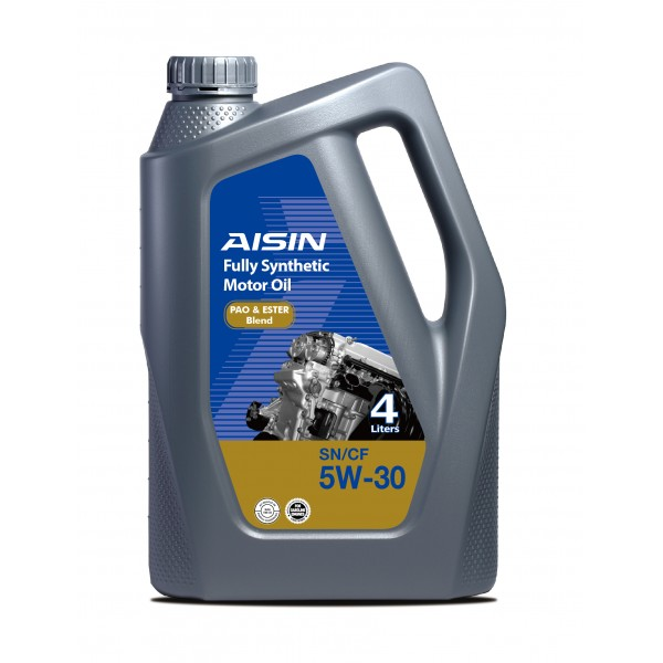Aisin Fully Synthetic Motor Oil 0W-30 SN (4 Liters)