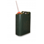 20 LITRE GREEN METAL FUEL JERRY CAN PETROL DIESEL 20L ARMY CONTAINER CAR